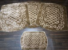 ROMANY WASHABLES NEW DESIGN SETS OF 4 MATS XLARGE SIZE 100cmX140CM DK BEIGE RUGS
